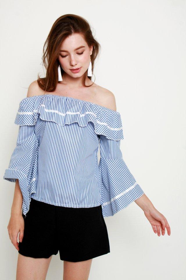 Cassilyn Stripe Off-Shoulder Top