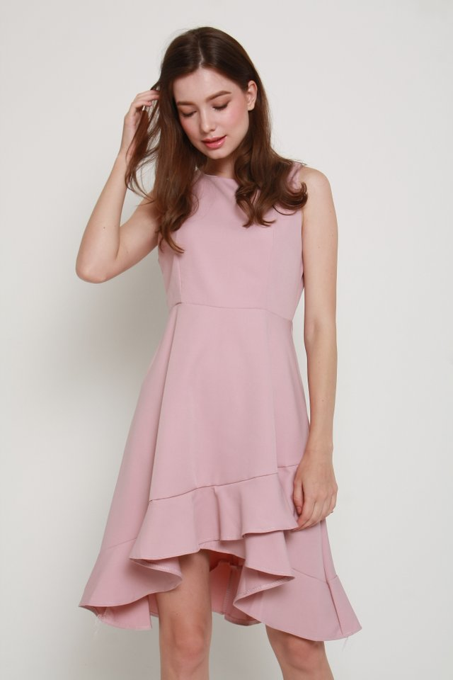 Anastasia Ruffle Dress In Pink