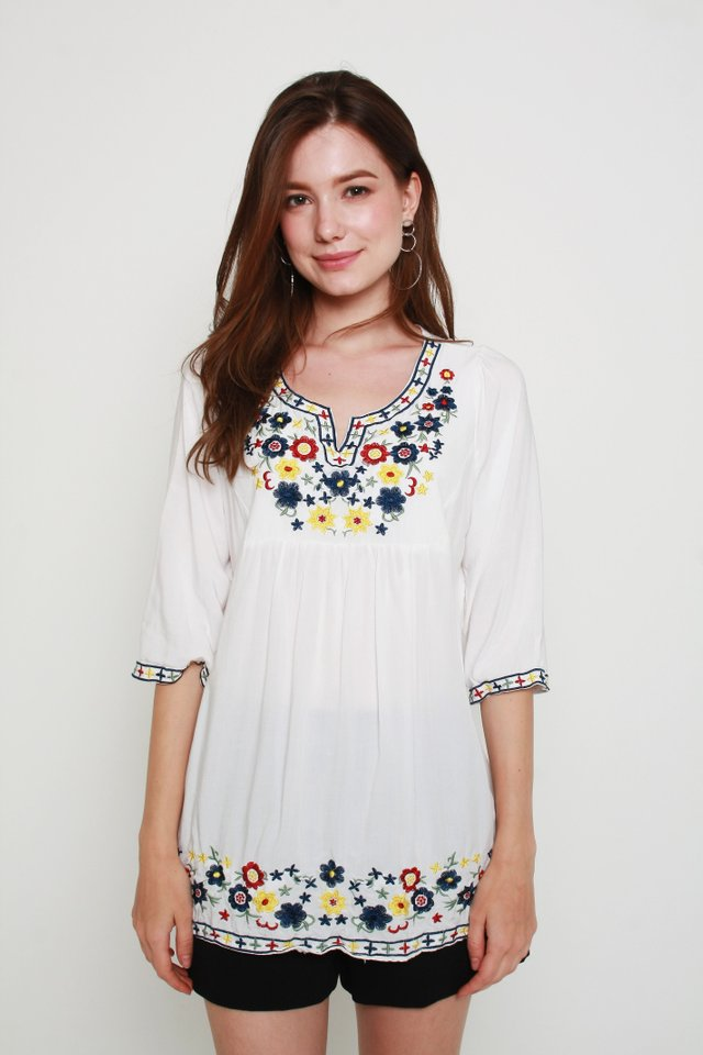 Kamila Embroidery Top