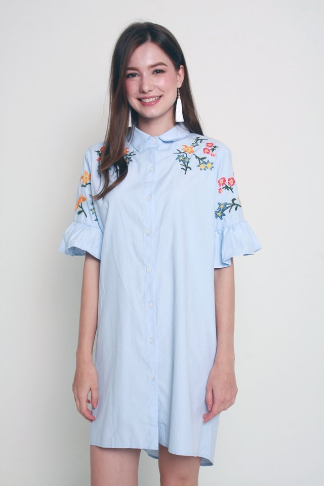Blakely Embroidery Shirt Dress (M size)