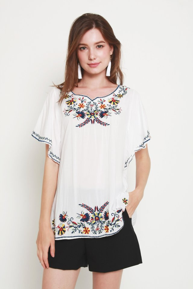 Emberly Embroidery Top