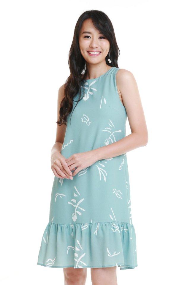 Penelope Dress In Light Sage