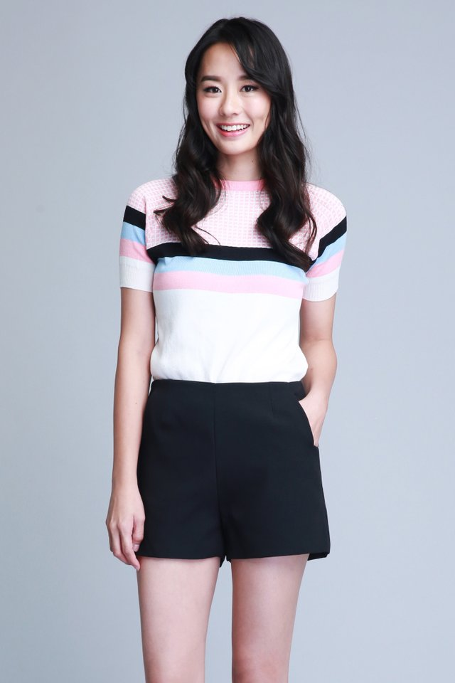 Chancy Knit Top in Pink