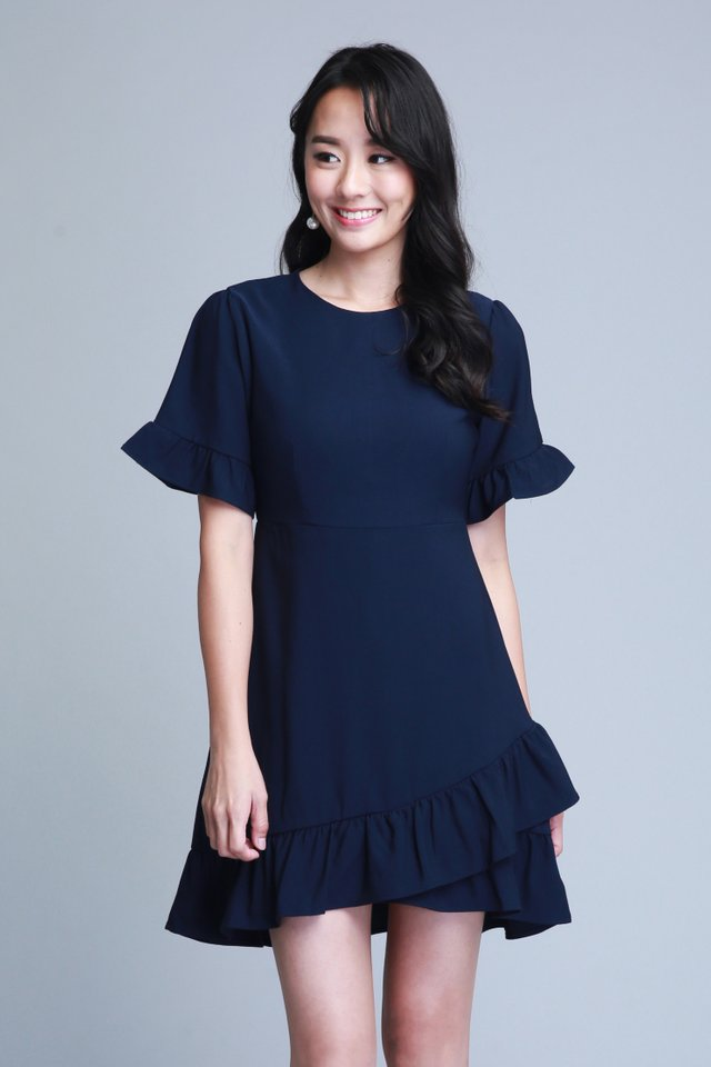 Madelyn Dress In Navy