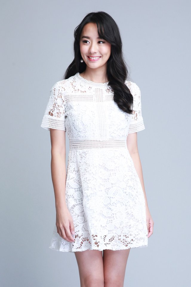 Madilyn Lace Dress In White