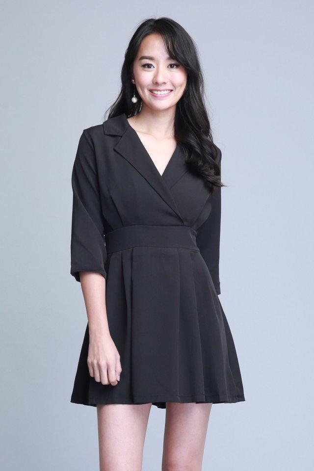Evelynn Dress in Black