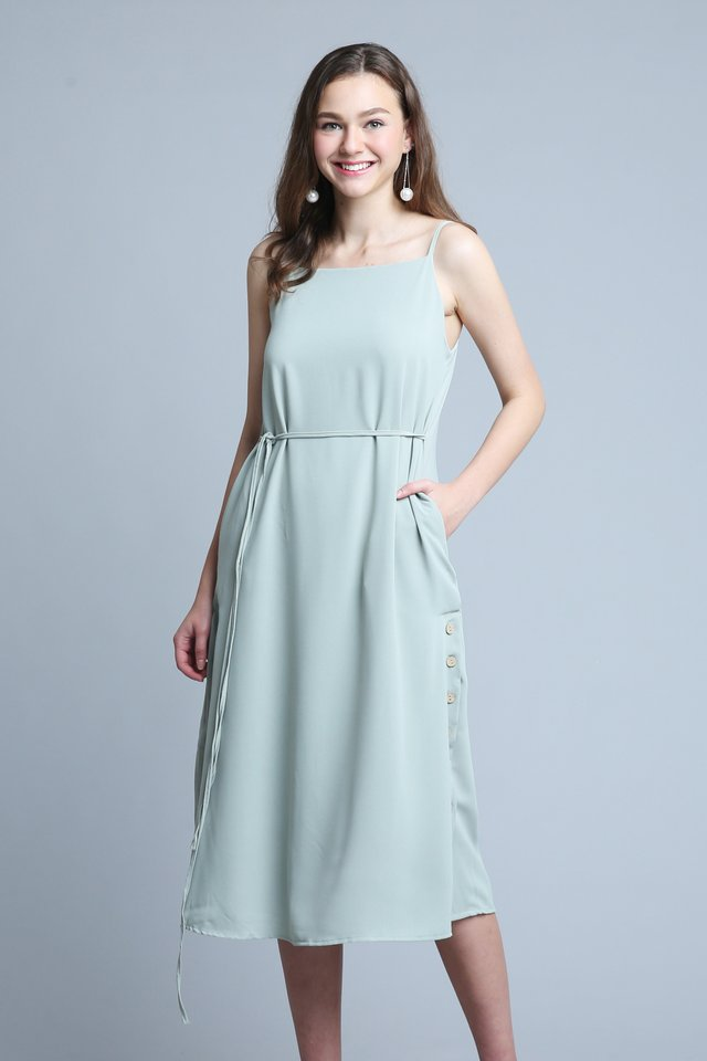 Camila Dress In Sage (L size)