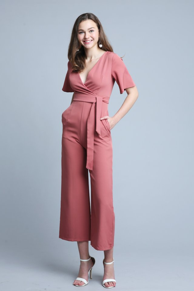 Tricia Jumpsuit In Rose (S size)
