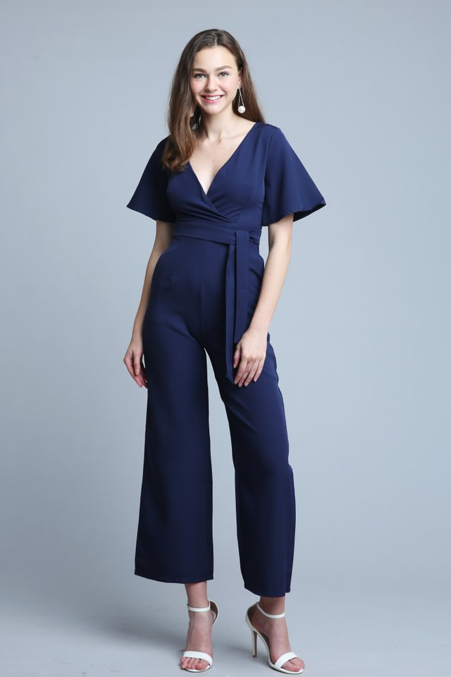 Tricia Jumpsuit In Navy (M size)