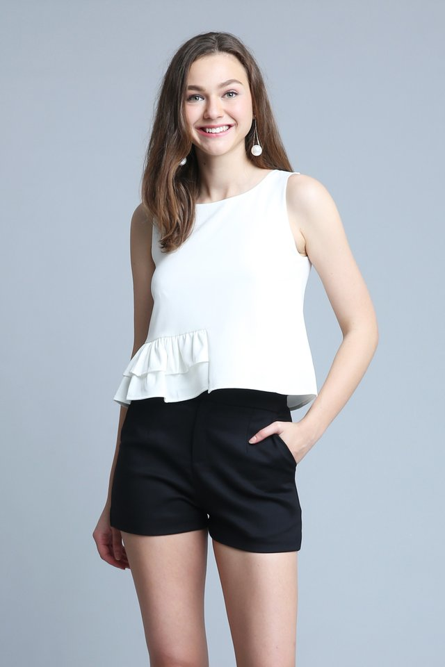 Estellin Top In White