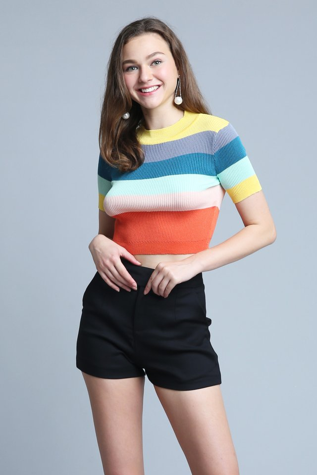 Rainbow Knit Top