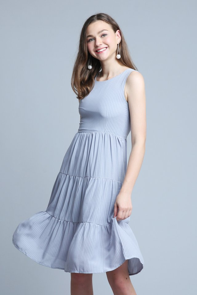 Alice Dress in Lilac Grey