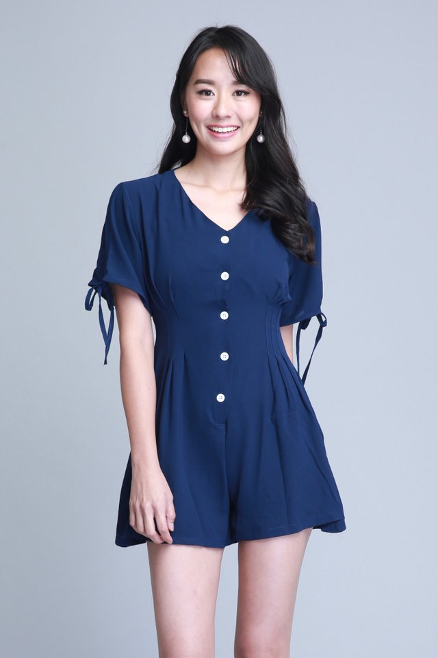 Luciana Romper In Navy