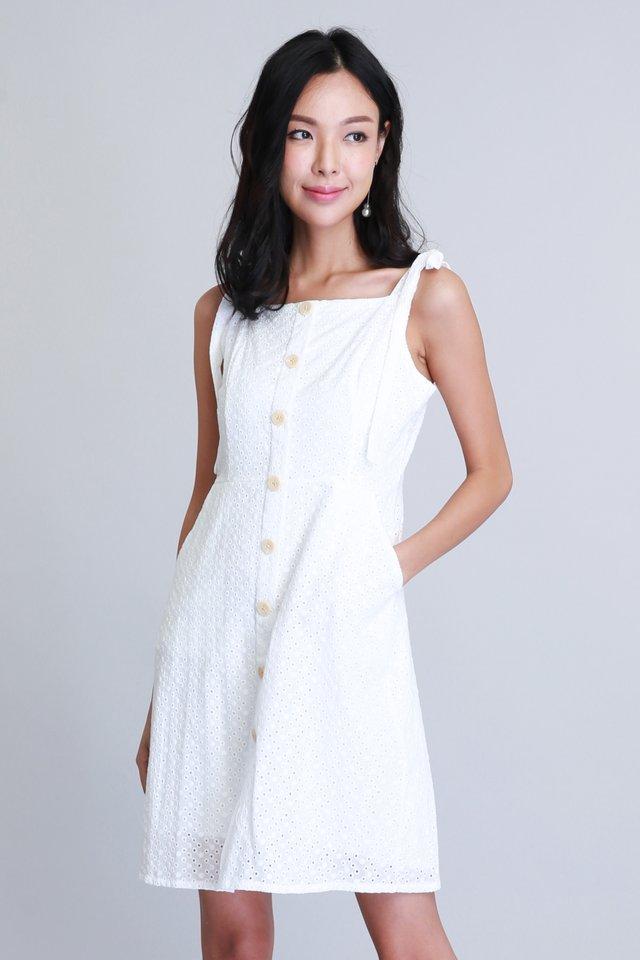 Kathleen Dress in White