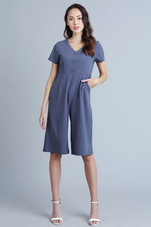 Bexley Jumpsuit in Steel Blue