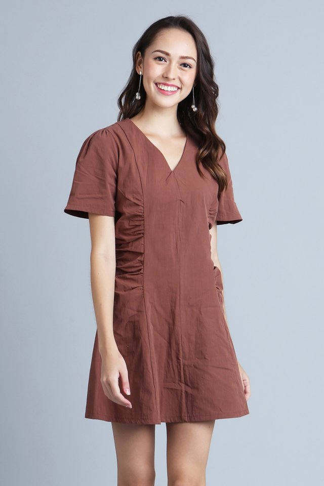 Ari Dress in Brown