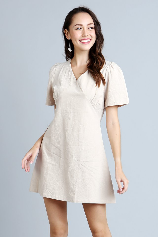 Alyssa Dress in Latte