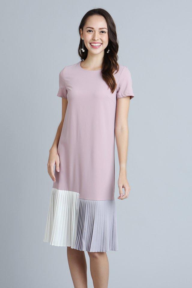 Brea Shift Dress in Pink