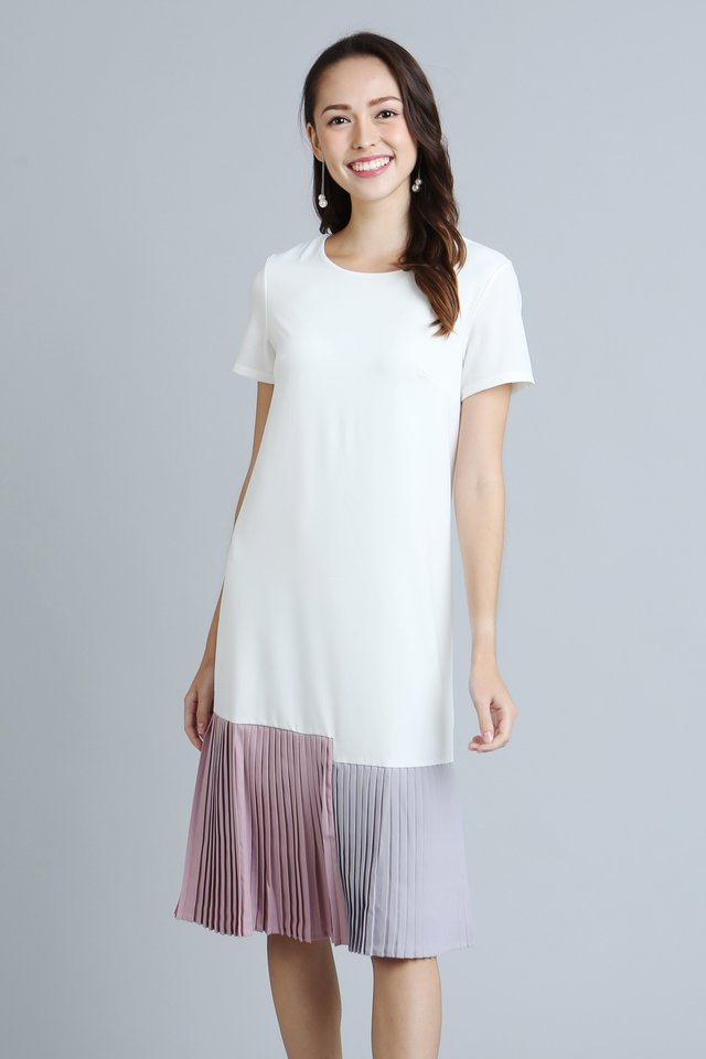 Brea Shift Dress in White