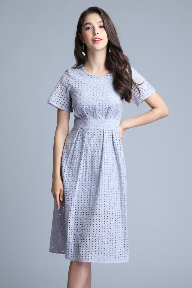 Faith Midi Dress in Lilac