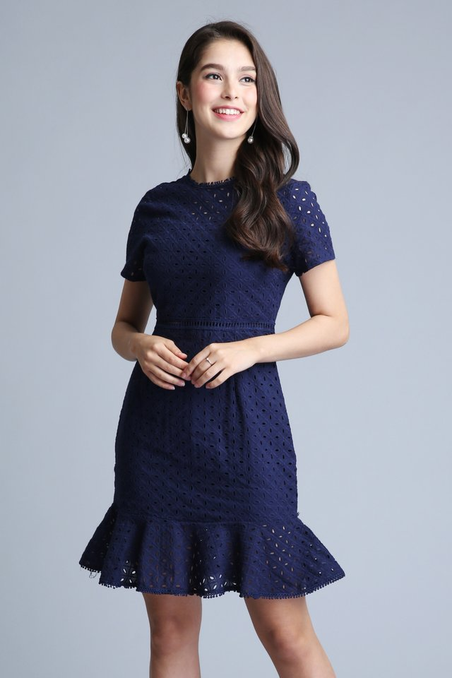 Flaunc Mermaid Dress in Navy
