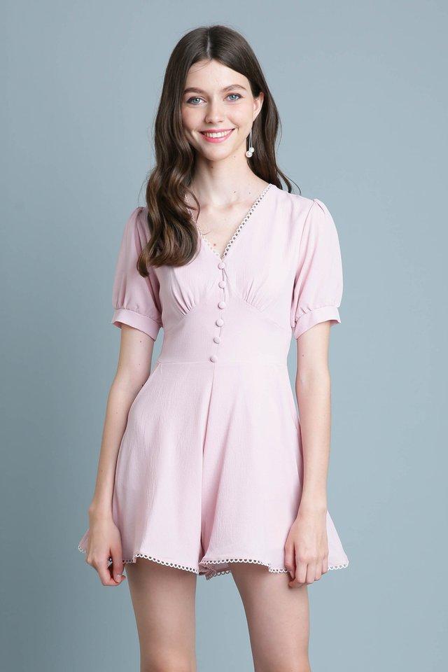 Aurabelle Romper in Pink